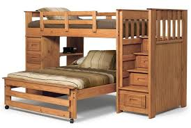 Bunk Beds  Eclipse Twin Over Full Futon Bunk Bed Twin Over Full - Wood bunk bed with futon