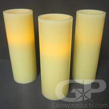 8 inch flameless led pillar candles glowproducts