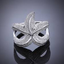 online rings silver images Sea star free shipping silver rings fashion jewelry online jpg
