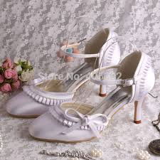 princess wedding shoes aliexpress buy wedopus mw155 bridal low heel bow sweet