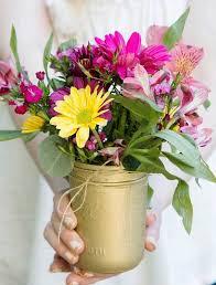 Flower Arrangements In Vases Flower Arrangements And Gold Glitter Vases