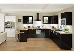 cuisine en noir cuisine noir plan de travail bois blanc collection avec cuisine