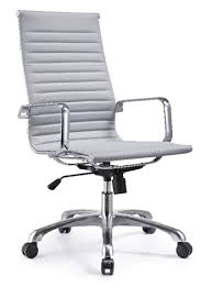 High Back White Office Chair Joplin High Back Gray Leather Conference Chair By Woodstock
