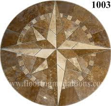 compass rose mosaic tile medallion 34