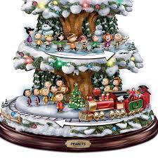 amazon com bradford exchange a peanuts christmas tabletop