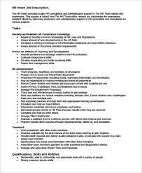 hr intern job description job application letter for hr intern 10