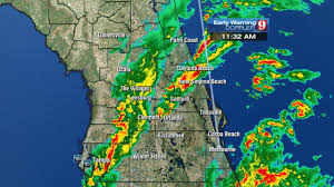 Cocoa Beach Map Severe Weather Moves Through Central Fla Ahead Of Cold Front Wftv