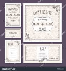 Wedding Invitation Rsvp Cards Set Wedding Cards Wedding Invitation Thank Stock Vector 471573944