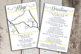 wedding invitation inserts custom wedding map and direction invitation insert printable file
