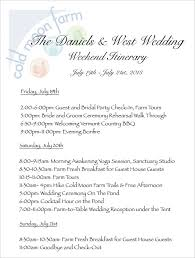 Wedding Itinerary Wedding Itinerary Template Apa Exampleswedding Weekend Itinerary