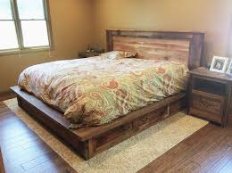 Bedding Frame Reclaimed Wood Bed Frame Storage Drawers What We Make Intended For