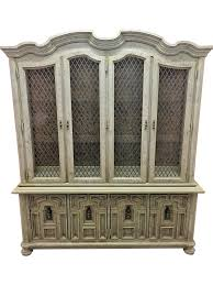 Antique Breakfront China Cabinet by Vintage U0026 Used White China And Display Cabinets Chairish