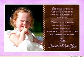 single photo christening thank you card pink brown
