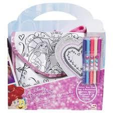buy disney princess colour bag colouring