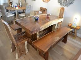 Natural Slab Dining Table Creative Ideas Natural Wood Dining Table Shocking Contemporary