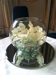 fish bowl centerpieces flowers for fish bowl centerpieces wide glass flower centerpiece