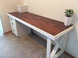 Diy Student Desk by L Shaped Double X Desk U2013 Handmadehaven Office Tutorials