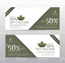 hotel gift certificates gift voucher template for spa hotel resort vector illustration