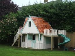 childrens chalet playhouse with spiral slide playhouses the