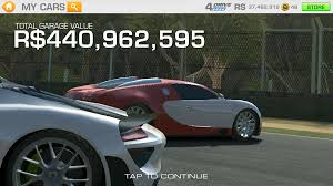 this is my garage on real racing 3