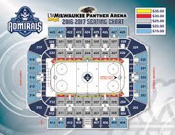 United Center Seating Map Milwaukee Admirals