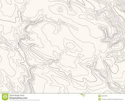 Brown Line Map Topographic Map Vector Illustration Light Brown Background Stock