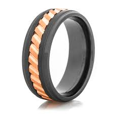 ring spinner black spinner ring with copper inlay titanium buzz