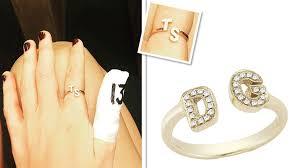 Initials Ring Taylor Swift Initial Ring Dana Rebecca Designs Initial Ring