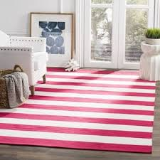 Pink And White Striped Rug Indo Hand Woven Nantucket Red White Striped Indoor Outdoor Area