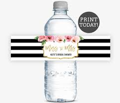 Fedex Label Template Word Kate Bridal Shower Water Bottle Labels Spade Inspired Bridal