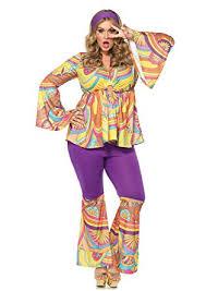 Size Halloween Costumes 3x 4x Amazon Purple Haze Hippie Size Costume Size