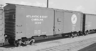 box car train atlantic and east carolina railway boxcar 1039 city of