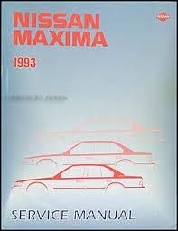 1993 nissan maxima repair shop manual original