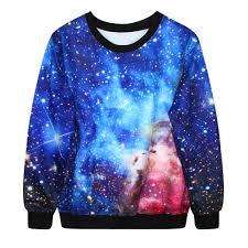 galaxy sweater japanese harajuku galaxy unisex sweatshirt coat kawaii