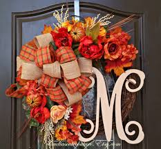 homely handmade fall wreath designs for the coming season