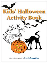 kids u0027 halloween activity book printable familyeducation