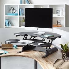 Oak Desk Type Extraordinary Creamy Oak Wood Corner Standing Desk Complete With