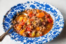 quick and easy hamburger soup simplyrecipes com
