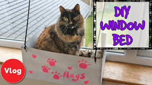 Cat Window Sill Perch How To Make A Diy Cat Window Bed Fun And Easy Homemade Craft Idea