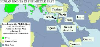middle east map countries middle east human rights