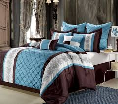 Blue And Brown Bed Sets Clearance 8pc Luxury Bedding Set Blue Brown Beige