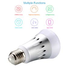Remote Control Led Light Bulb by Wi Fi Smart Led Light Bulb E27 Multicolored Colors Changing Sales