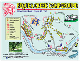 Map Of Lancaster Pa Pequea Creek Campground Lancaster County Pa Campground