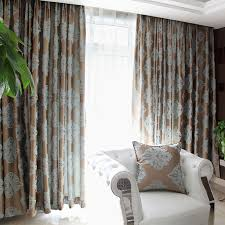 Blue And White Window Curtains Brown And Blue Window Curtains Use Jacquard Technology