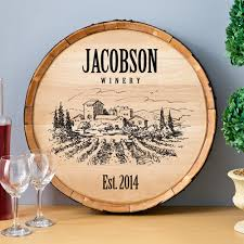 Personalized Home Decor Signs Personalized Wine Barrel Home Decor Sign Personalized Wood Wine