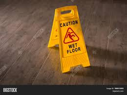 Slippery Floor Yellow Wet Floor Sign Caution Wet Floor And Slippery Surface Sign