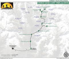 Mt Everest Map Short Everest Base Camp Trek 12 Days Itinerary Nepal Pioneer Treks