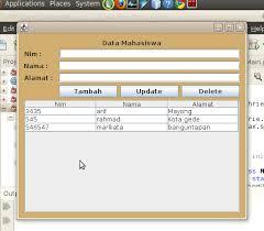 kumpulan tutorial java netbeans program insert update delete sederhana menggunakan java coretan
