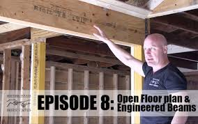 home remodel open floor concept framing and engineered beams