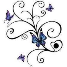 Flowers On Vines Tattoo Designs - butterflies and flowers vine tattoo design with name tattoos